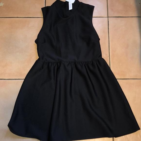 ec283ef7481f NWT topshop wmns Black skater dress size 12